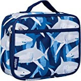 Wildkin Lunch Box, Insulated, Moisture Resistant, and Easy to Clean Helpful Extras for Quick and Simple Organization, Sharks, One Size