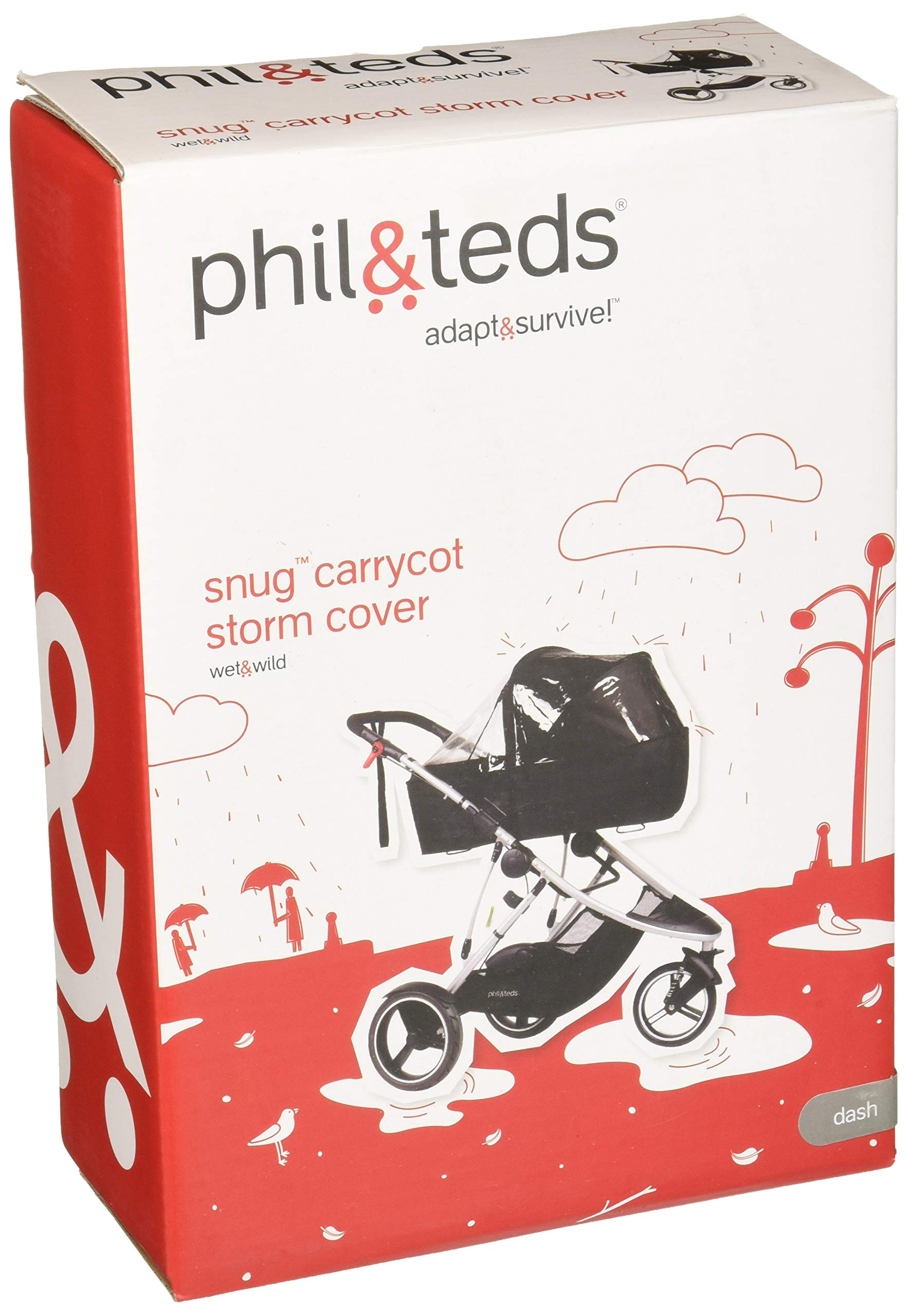 phil&teds Storm Cover for Dash Snug Carrycot by phil&teds (Image #1)