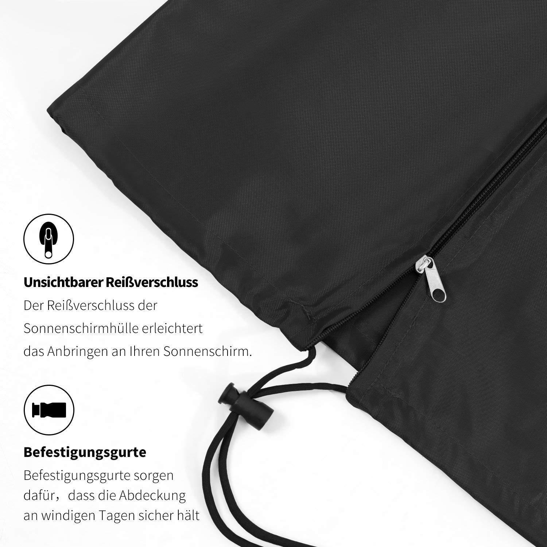 XZANTE Housse de Protection pour Housse Ampelschirm en Tissu Oxford Respirant et Imperm/éable Parasol Noir