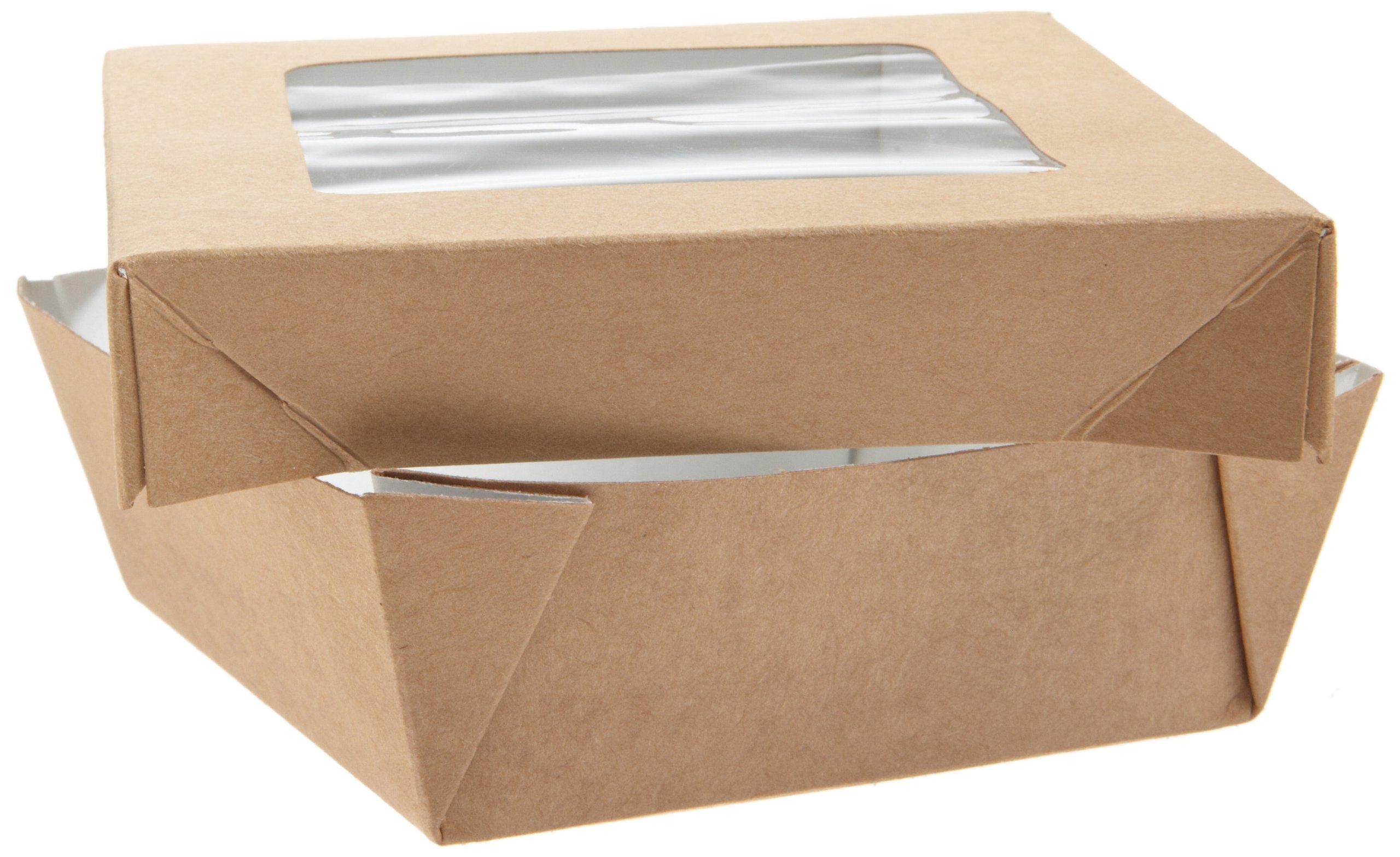 PackNWood 210KRAYB115 Small Kray Box with Window Lid - 12 oz - 3.9 x 3.9 x 1.6'' - 250 per case
