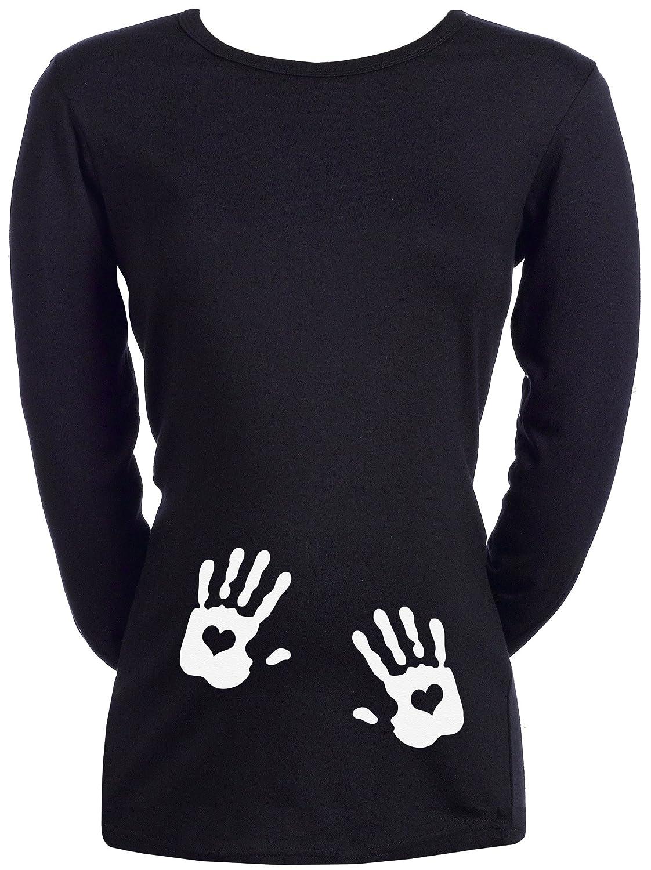 Spoilt Rotten Love Heart Hands - 100% Coton Bio T-shirt de grossesse ND121300