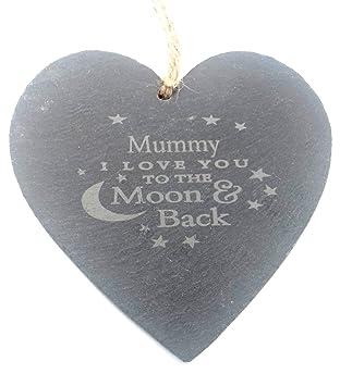 Mummy I Love You a la luna y parte posterior pequeño pizarra ...