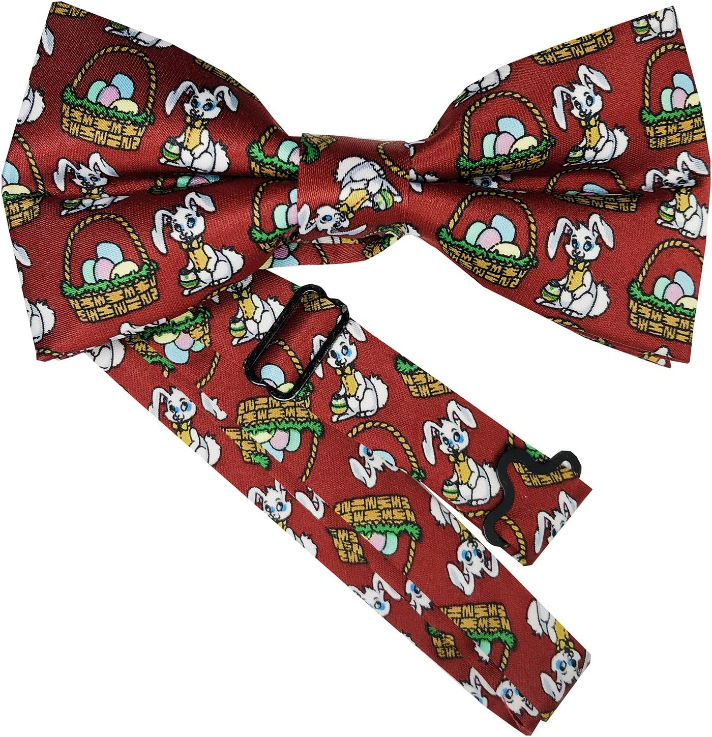 Jacob Alexander Boys Candy Cane Red and White Stripe Tie