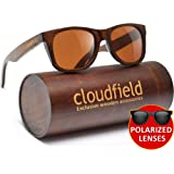Wood Sunglasses Polarized for Men and Women - Bamboo Wooden Wayfarer Style - Perfect Gift