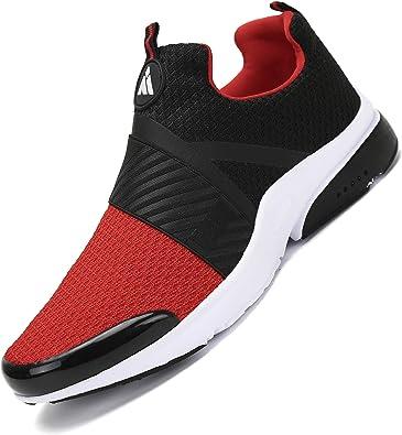 Zapatillas Running para Hombre Gimnasio Zapatos Antideslizante Liviano Deportivas para Correr Trail Rojo 43 EU: Amazon.es: Zapatos y complementos