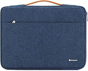 "NIDOO 13 inch Laptop Sleeve case Notebook Bag Protective Handbag for 13"" MacBook Air / 13.5"" Surface Book / 13.3"" ThinkPad L380 L390 Yoga / 13.9"" Lenovo Yoga C930 / 14"" HP EliteBook 1040, Blue"