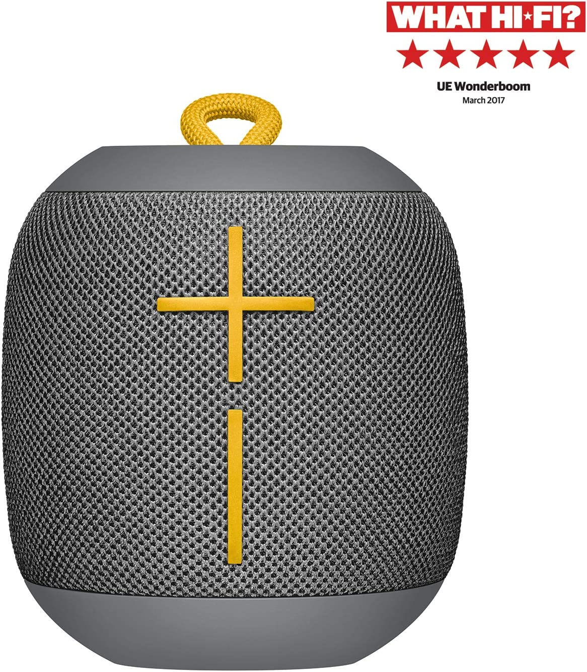 Ultimate Ears Wonderboom Altavoz Portátil Inalámbrico Bluetooth, Sonido Envolvente de 360°, Impermeable, Conexión de 2 Altavoces para Sonido Potente, Batería de 10 h, color Gris
