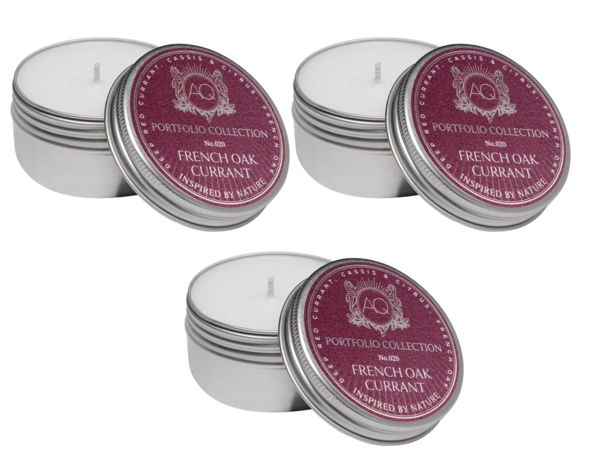 Aquiesse Travel Tin French Oak Currant 2 Oz - 3 Pack