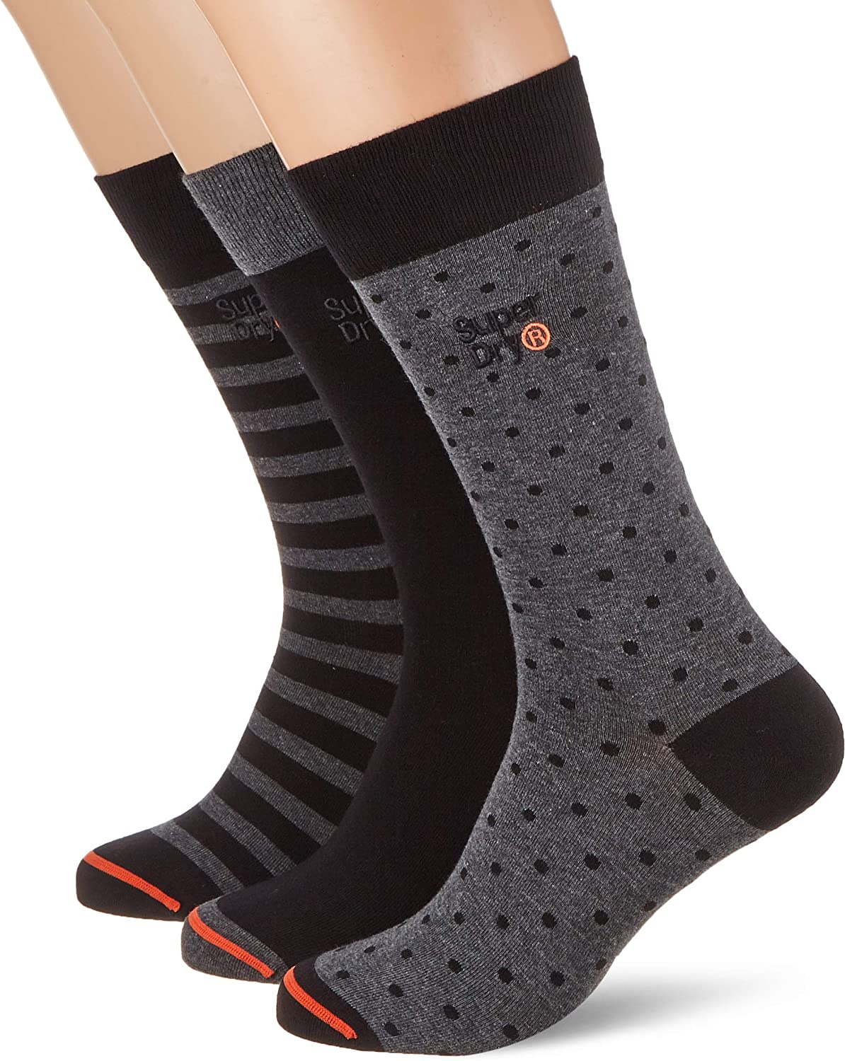 Superdry City Sock Triple Pack Calcetines para Hombre