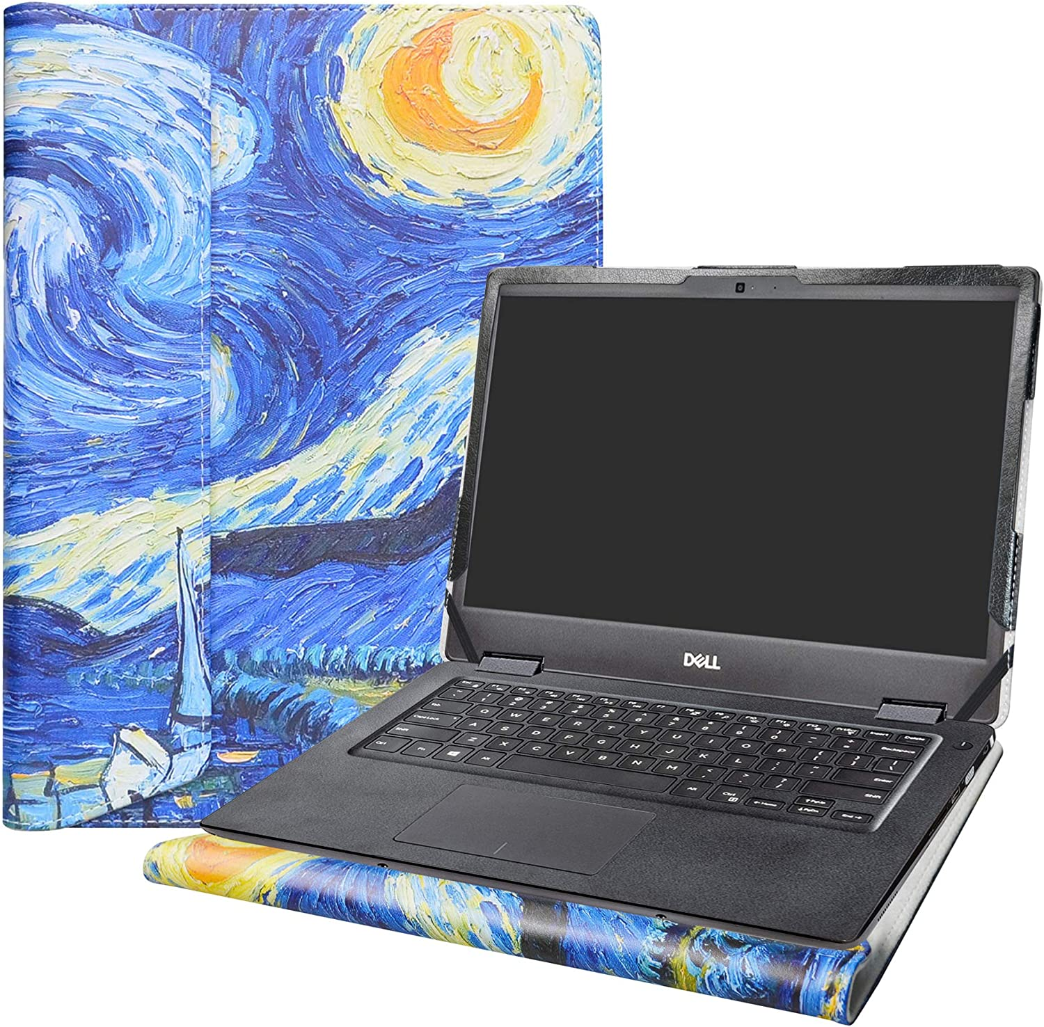 """Alapmk Protective Case Cover for 14"""" Dell Latitude 14 3400/Inspiron 14 5493 5494 & Acer Spin 3 14 SP314-53N Laptop[Note:Not fit Latitude 14 3490 3480 3488 3470/Spin 3 SP314-51 SP314-52],Starry Night"""