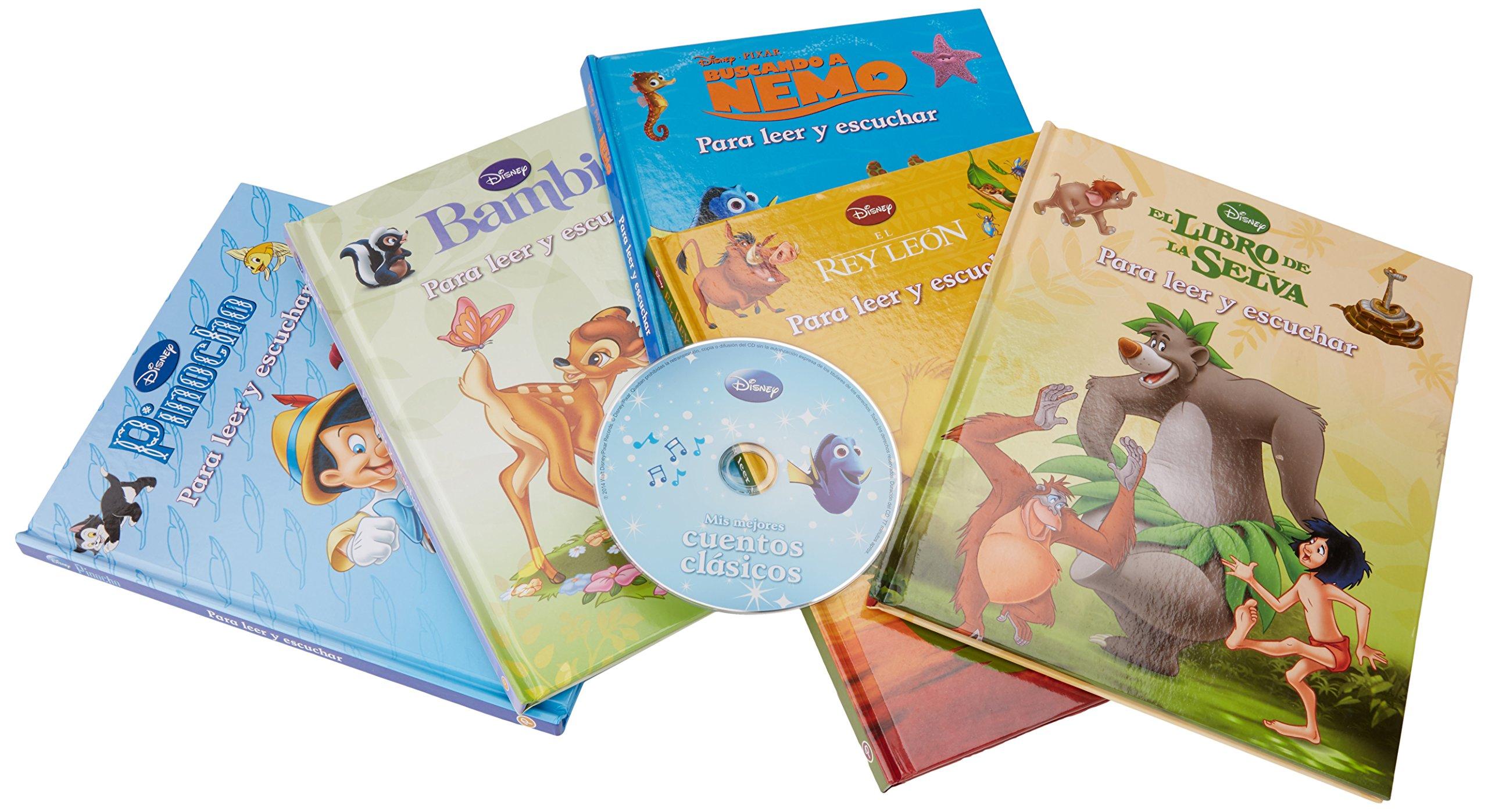 caja - CUENTOS CLASICOS (5 libros + CD: Amazon.es: Libros
