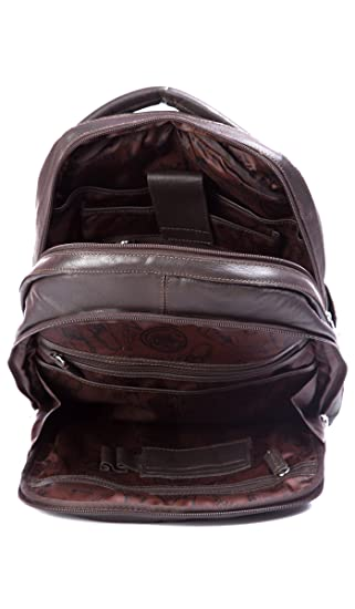 Amazon.com: Velez Genuine Leather Backpack for Men Bolso en Cuero de Hombre Brown: 2B e