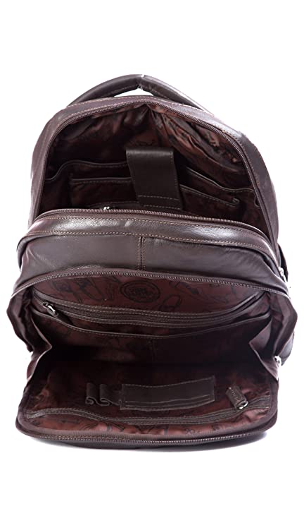 Amazon.com: Velez Genuine Leather Backpack for Men Bolso en Cuero de Hombre Brown: 2B e
