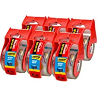 6-Count Scotch Heavy Duty Shipping Packaging Tape, 1.88 Inches x 800 Inches, 6 Rolls with Dispenser