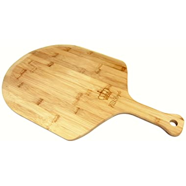 Pizza Royale Ethically Sourced Premium Natural Bamboo Pizza Peel, 19.6 Inch x 12 Inch