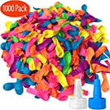 Hibery 1000 Pack Water Balloons with Refill Kits, Latex Water Bomb Balloons Fight Games - Summer Splash Fun for Kids & Adults