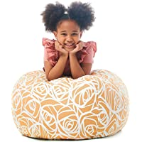 5 STARS UNITED Stuffed Animal Storage Bean Bag - Cover Only - Large Beanbag Chairs for Kids - 90+ Plush Toys Holder and…