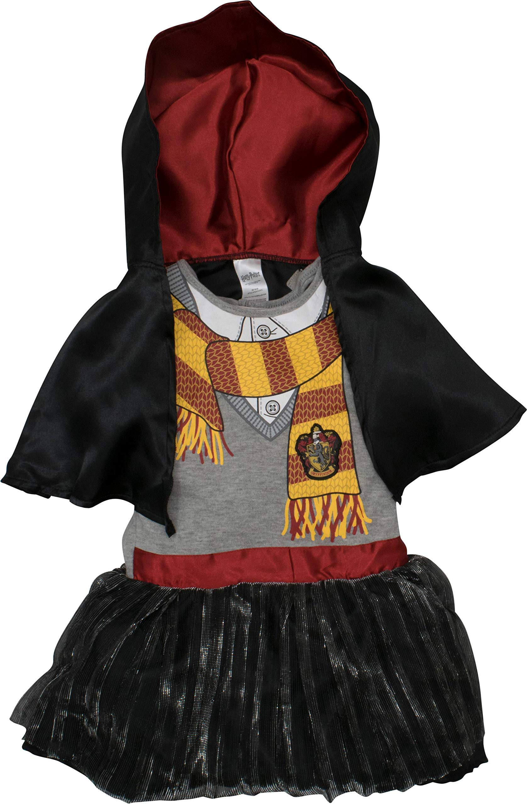 Warner Bros. Harry Potter Toddler Girls' Hooded Costume Ruffle Dress with Cape (2T)