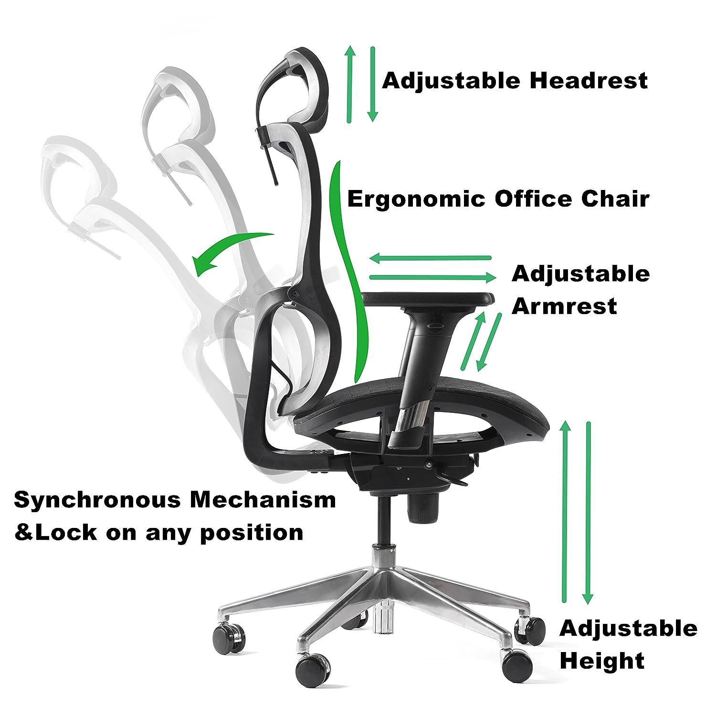 Amazon CCTRO High Back Mesh Ergonomic fice Chair with