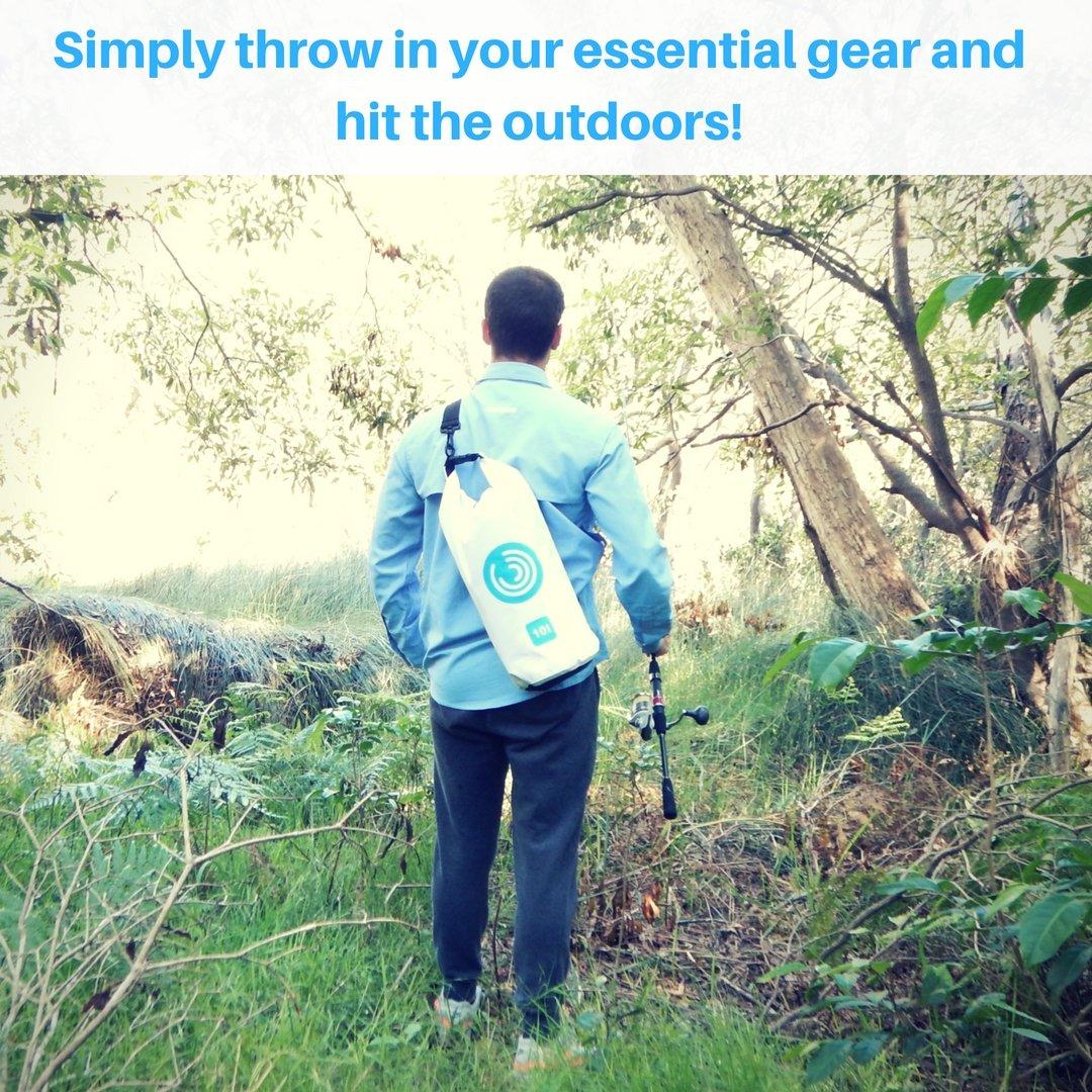 Alta calidad impermeable bolsa seca - Want Your Gear to be Dry & Clean? Resistente Bolsa de compresión con bolsillo interior, Roll Top cierre y correa de ...