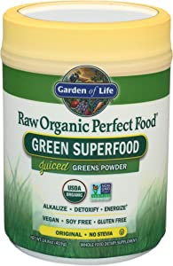 Garden of Life Raw Organic Perfect Food Green Superfood Juiced Greens Powder - Original Stevia-Free, 60 Servings (Packaging May Vary) - Non-GMO, Gluten Free, Vegan Whole Food Dietary Supplement