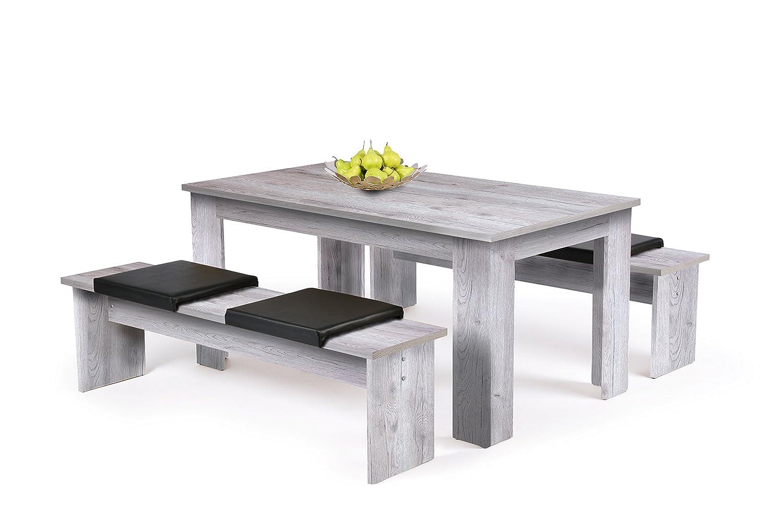 Inter Trade Corporation Tischgruppe - Esszimmertisch + 2 Bänke ...