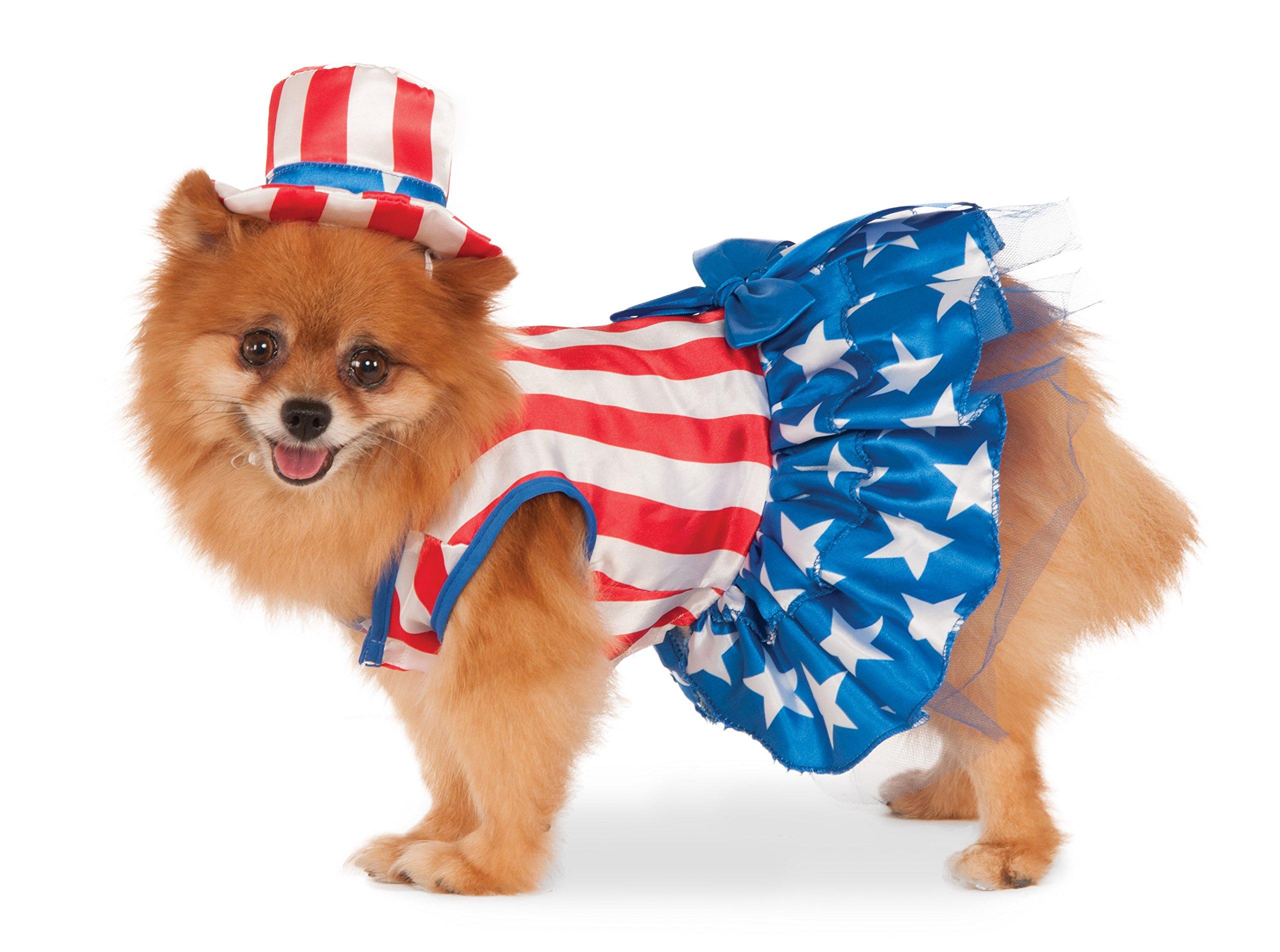 Rubie's 4th of July Pet Costume, Large, Patriotic Pooch Girl