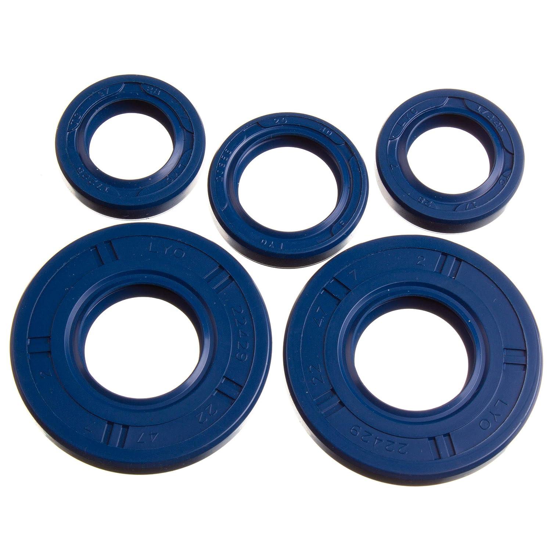 SR4-2 Star SR4-4 Habicht Simson S50 KR51//1 Schwalbe blau SR4-3 Sperber LYO Set: Wellendichtringe Motor kpl Doppellippe
