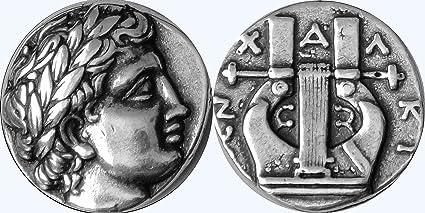 Greek Mythology Apollo Lyre Coin Son Of Zeus God The Sun 30S