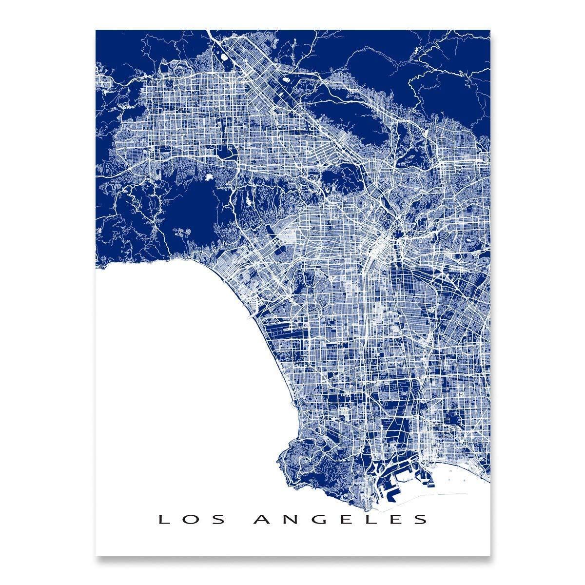Amazon.com: Los Angeles Map Print, California, CA City Art ... on north beach california map, riverside california map, sacramento california map, south central los angeles map, mn california map, all of california cities map, california capital map, gulf coast texas-louisiana map, brea california map, california california map, st. helena california map, chicago illinois map, alcatraz island california map, allendale california map, mc california map, los angeles and surrounding areas map, california los angeles metro map, no california map, los angeles neighborhoods map, nyc california map,