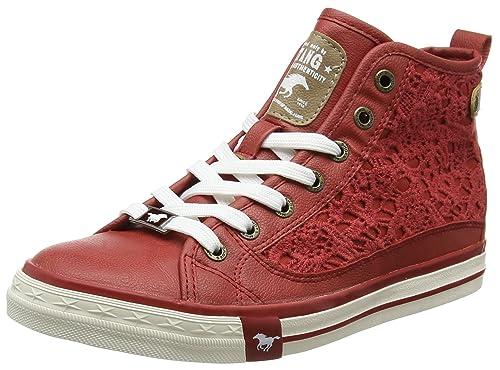 Mustang 1146-507, Zapatillas Altas Para Mujer, Rojo (Rot), 36 EU: Amazon.es: Zapatos y complementos