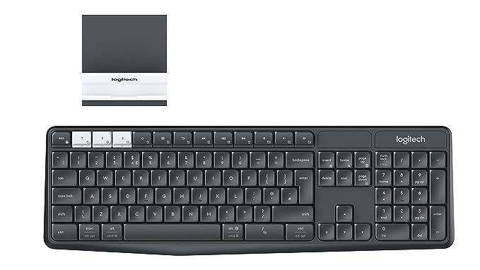 Logitech K375s QWERTY Inglés Grafito, Blanco - Teclado (RF Wireless + Bluetooth, Universal, Interruptor mecánico, QWERTY, Inglés, Inalámbrico): Amazon.es: ...