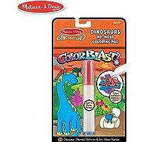 Melissa & Doug On the Go Color Blast! Bloc de Colorear Sin Manchas, Dinosaurios (24 Imágenes Revela Color, Marcador de Tinta Invisible)
