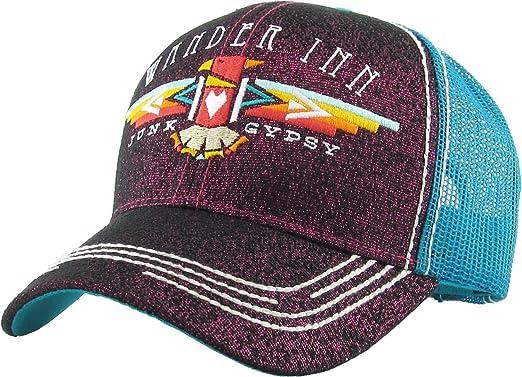3d75ff2c4cd90 Junk Gypsy Wander Inn Ladies Vintage Trucker Hat Adjustable Mesh Cap  (Adjustable