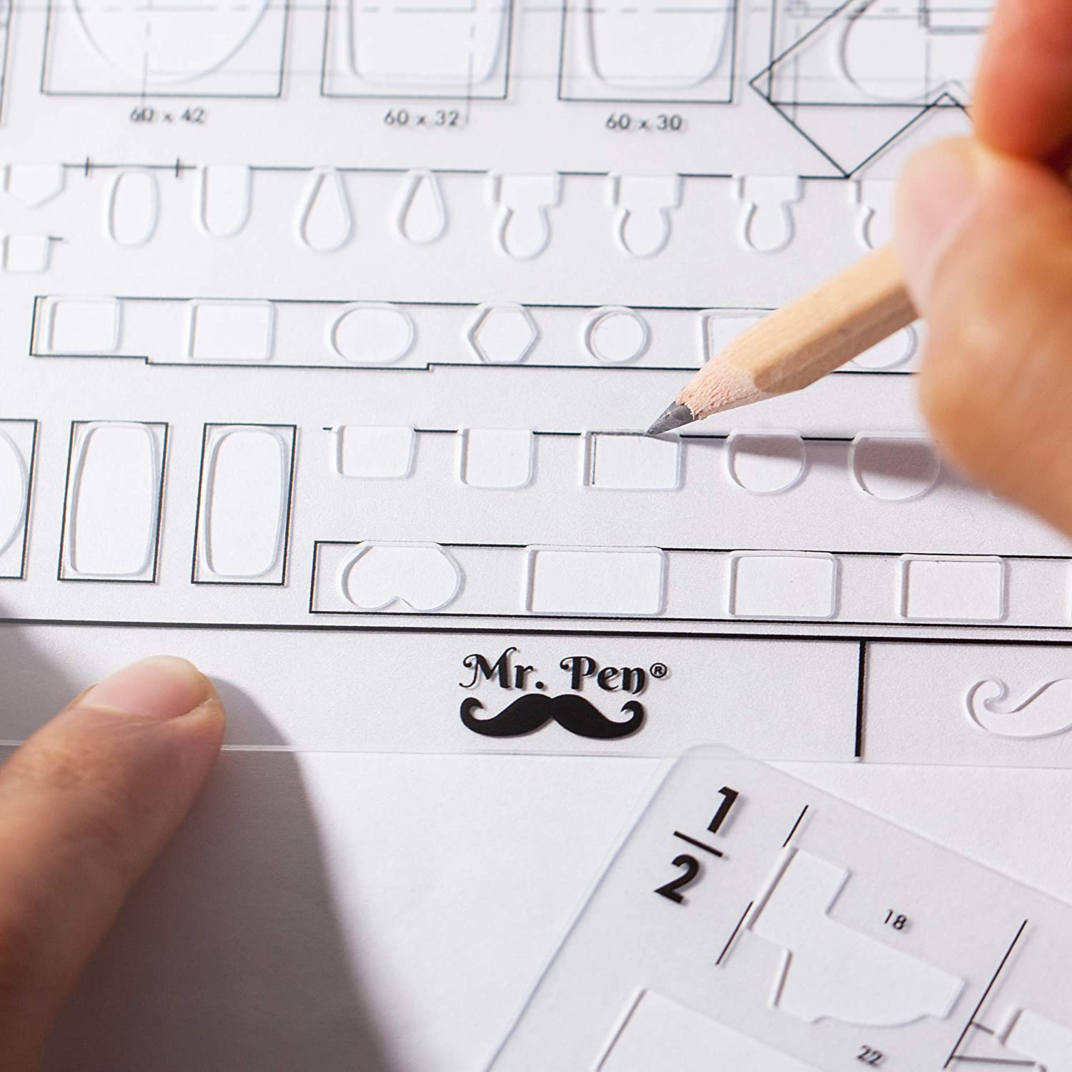 Mr. Pen- Plumbing Template, Architectural Templates, Bathroom Template, Toilet Template, Drafting Tools, Drawing Template, Template Architecture, Drafting Ruler Shapes, Stencils, Plumbing Fixtures: Arts, Crafts & Sewing