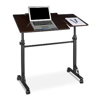 finest relaxdays table ordinateur portable hauteur rglable roues table bout de canap lit bois. Black Bedroom Furniture Sets. Home Design Ideas
