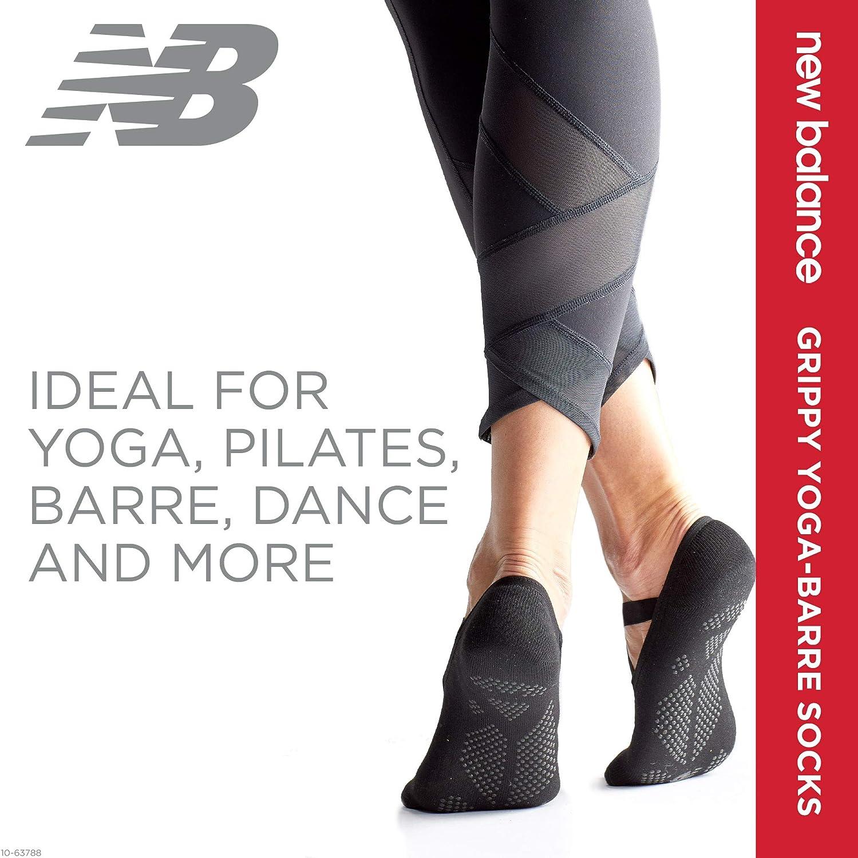 New Balance Yoga Socks for Women/Men - Non Slip Barre Socks with Grips/Straps | Sticky Gripper Exercise Fitness Sock Shoes for Yoga, Barre, Pilates, ...