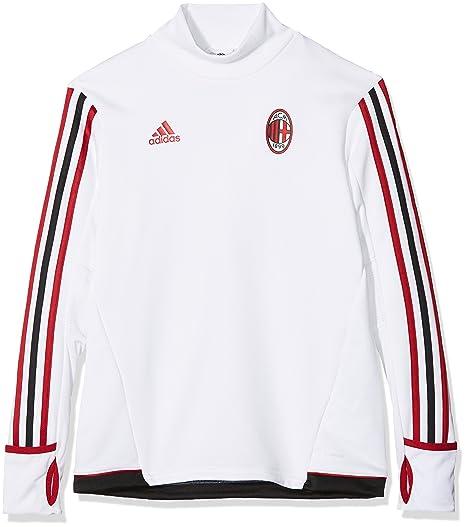 aspetto dettagliato e0d0e ecc54 adidas AC Milan Trg Topy, Felpa Bambino, Bianco (Bianco ...