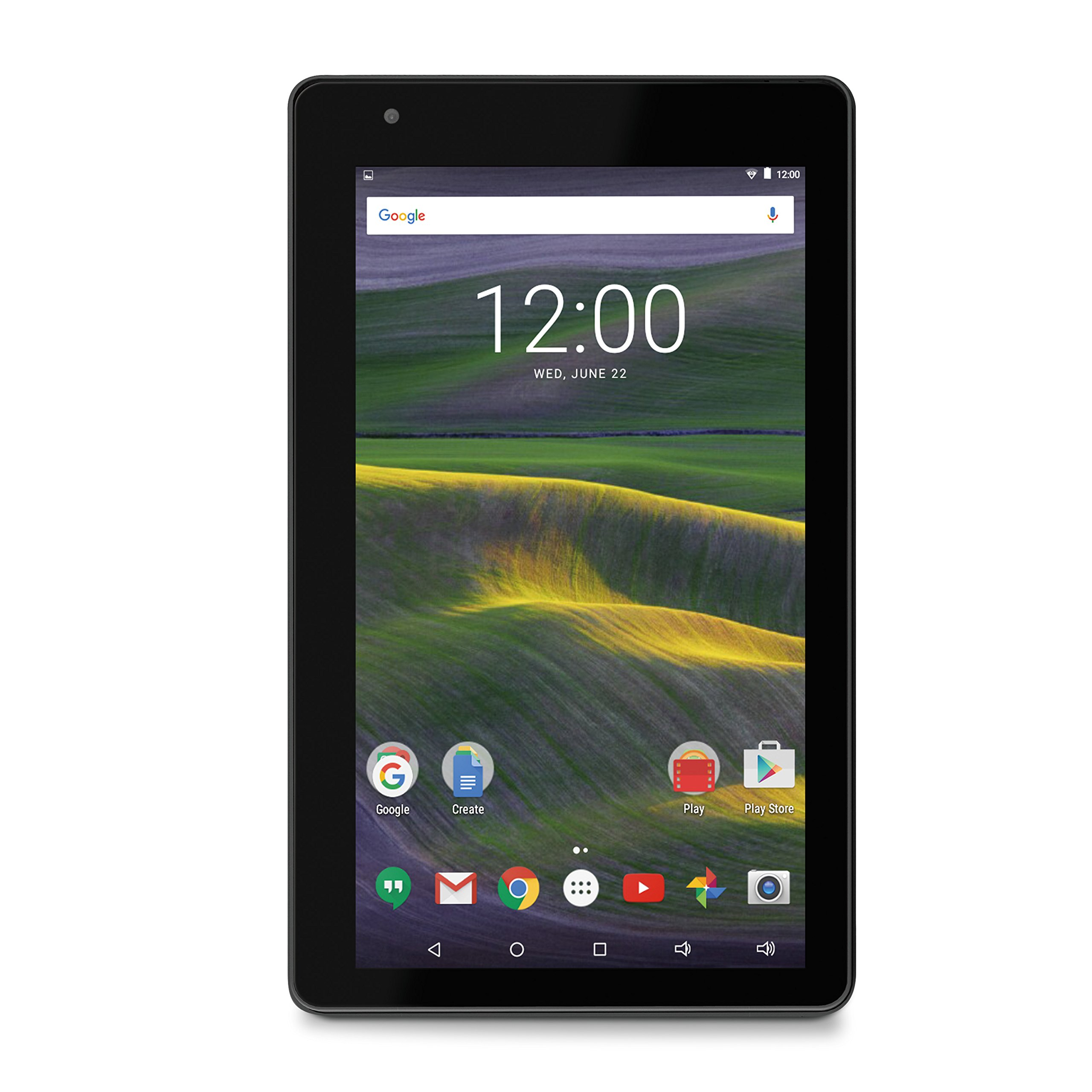 RCT6673W43M 16GB RCA Mercury II 7'' Android Tablet; Android 6.0 Marshmallow; Google Play; Dual Camera