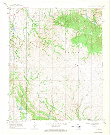 Topographic Map Oklahoma.Amazon Com Oklahoma Maps 1968 Fox Ok Usgs Historical Topographic