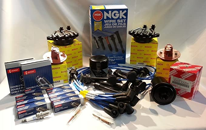 Amazon.com: Lexus 90-94 LS400 & SC400 Complete Cap-Rotor-NGK Spark Plugs & Wires-Oil Filter: Automotive