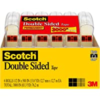 Deals on Scotch 6137H-2PC-MP Double Sided Tape, No Liner, Strong