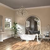 """MAYKKE Mona 71"""" Traditional Oval Acrylic Freestanding Clawfoot Tub   White Double Slipper Bathtub with Feet in Polished Chrome Finish for Bathroom   Drain Included, cUPC certified   XDA1412001"""