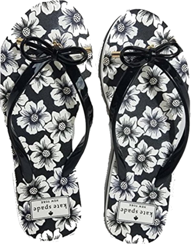 Kate Spade Nova Flip Flop, Black Floral