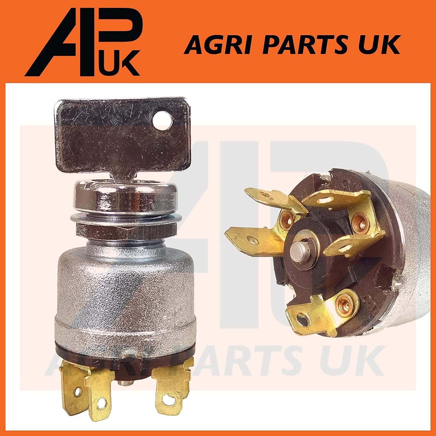 APUK Ignition Switch 3 Positions Compatible with Massey Ferguson MF 35 Petrol /& 135 Petrol Tractor