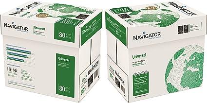 NAVIGATOR NAVA480-2 A4, 80 g/m² papel universal 10x Reams (5,000 Sheets) - 2x Box: Amazon.es: Oficina y papelería