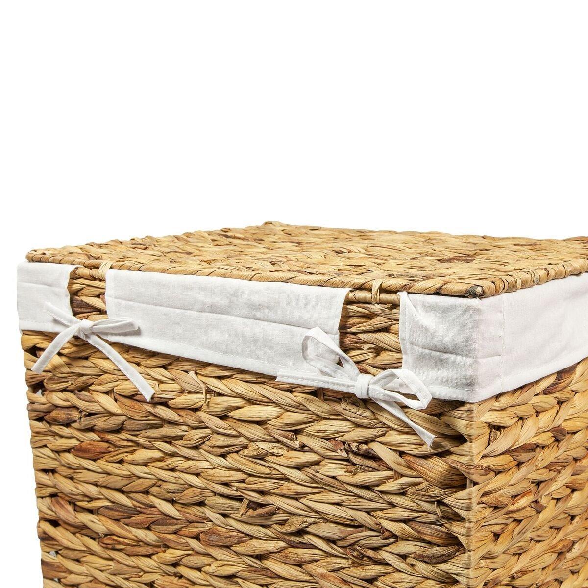 Woodluv Natural Rattan Laundry Storage Basket Linen Bathroom Basket Medium