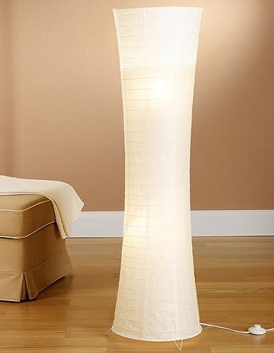 Lampade In Carta Di Riso.Trango Lampada A Piantana In Carta Di Riso 125 X 35 Cm Moderno In Weiß Tg1229 026