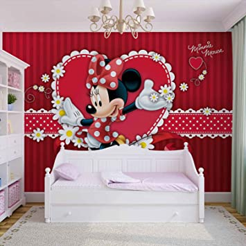 Disney Minnie Mouse - Forwall - Fototapete - Tapete - Fotomural - Mural  Wandbild - (4-015WM) - XXL - 312cm x 219cm - VLIES (EasyInstall) - 3 Pieces