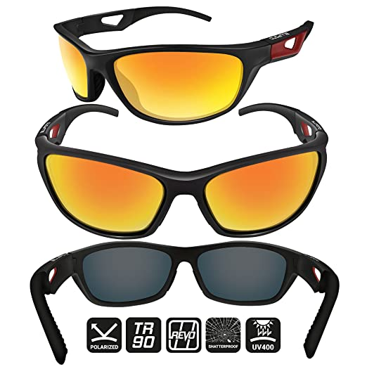 6baa39da84c Amazon.com  BLUPOND Polarized Sports Sunglasses for Men - TR90 Unbreakable  Frames for Golf Cycling Driving - Scout  Sports   Outdoors